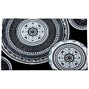 Webteppich Joffrey,160x230cm - Schwarz/Weiß, KONVENTIONELL, Textil (160/230cm) - OMBRA