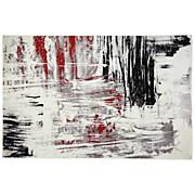 Webteppich Metro,160x230cm - Beige/Rot, KONVENTIONELL, Textil (160/230cm) - OMBRA