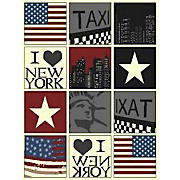 Webteppich New York - Multicolor, KONVENTIONELL, Textil (160/225cm)