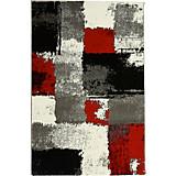 Webteppich Saphira 80x150 cm - Rot/Grau, KONVENTIONELL, Textil (80/150cm) - OMBRA