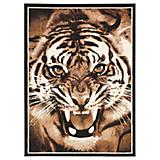 Webteppich Tiger - Braun, KONVENTIONELL, Textil (100/160cm)