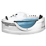 Whirlpool-Badewanne Sw103 - Weiß, MODERN, Kunststoff (150/68/150cm)