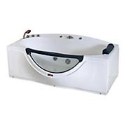 Whirlpool-Badewanne Sw303 - Weiß, MODERN, Kunststoff (170/90/68cm)