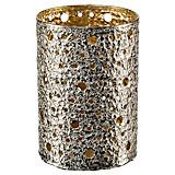 Windlicht Ø 12 cm - Silberfarben, MODERN, Metall (12/12/16cm)