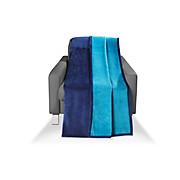 Wohndecke Carmina - Petrol/Dunkelblau, KONVENTIONELL, Textil (150/200cm) - LUCA BESSONI