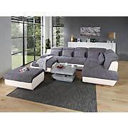 Wohnlandschaft Multi - Chromfarben/Creme, MODERN, Textil (345/228cm)