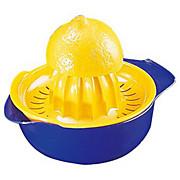 Zitronenpresse Blau/gelb - Weiß, KONVENTIONELL, Kunststoff (12cm) - HOMEWARE