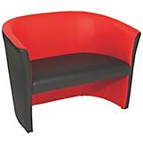 Zweisitzer-Sofa Rainbow Duo - Rot/Schwarz, MODERN (118/76/59cm) - OMBRA