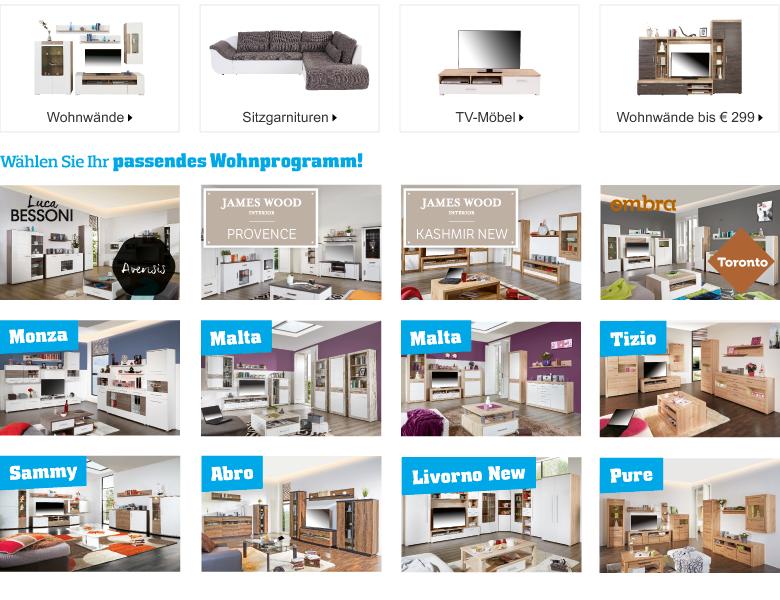 wohnw nde tv m bel online kaufen bei m belix m belix. Black Bedroom Furniture Sets. Home Design Ideas