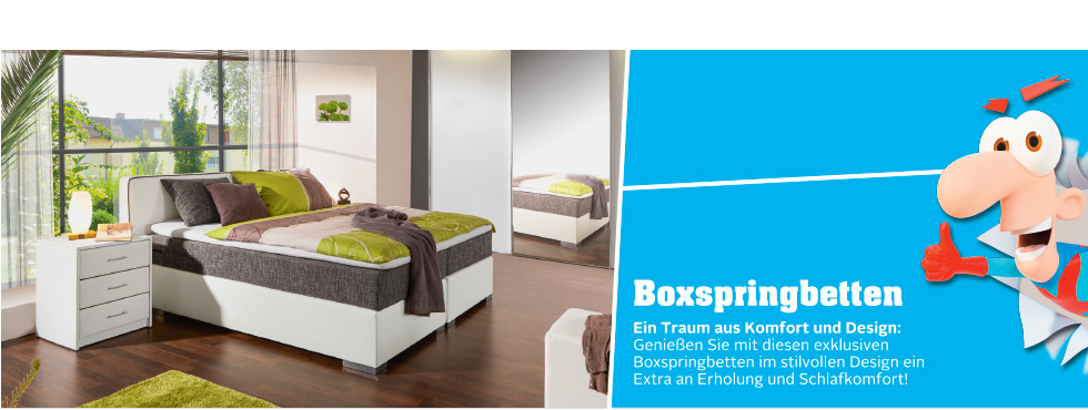 komfortable boxspringbetten bei m belix online bestellen m belix. Black Bedroom Furniture Sets. Home Design Ideas